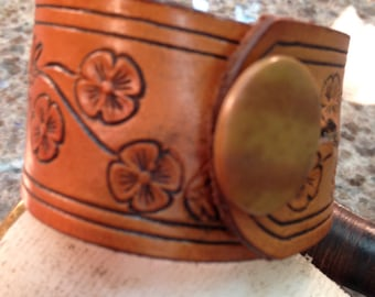 Leather Cuff ...Many Design Options and Prices