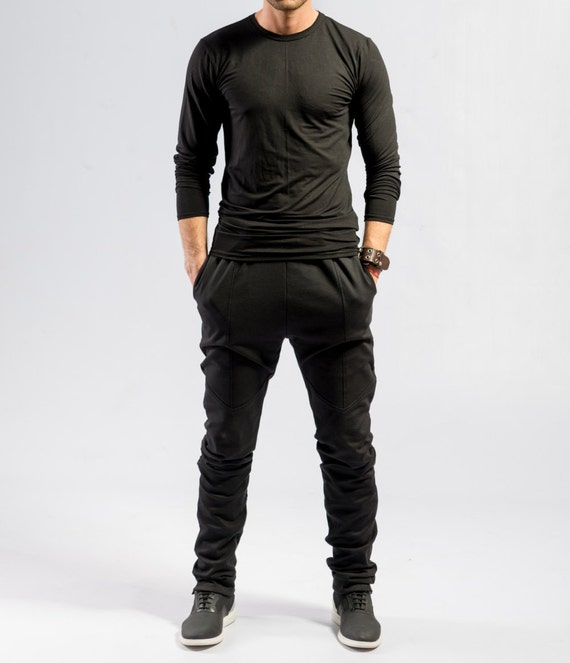 Minimalistische schwarze Hose   Herren Ninja Hose   Avantgarde   Etsy 03e40a0569