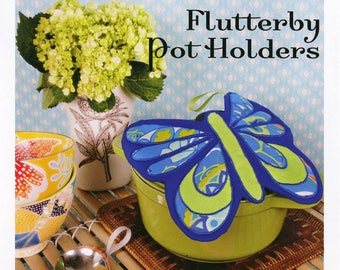 Flutterby Pot Holders Sewing Card Pattern by Valori Wells (VWD84)