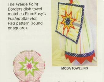 Prairie Point Borders Dish Towel Pattern by Plum Easy Patterns (PEP-103)