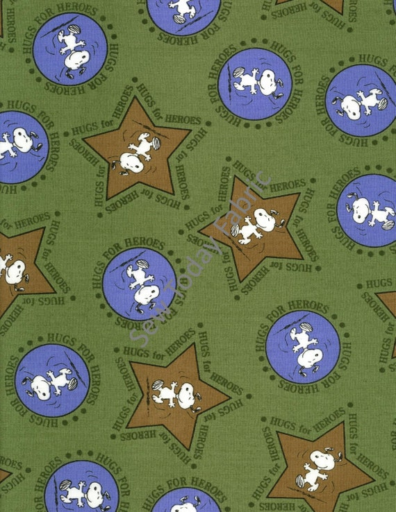 Snoopy Stars And Circles Hugs For Heroes Peanuts Etsy