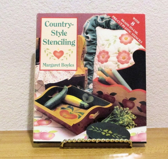 Country Style Stenciling by Margaret Boyles 1991 Hardcover book with dust jacket good condition