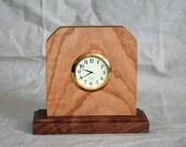 Oak and Walnut Clock