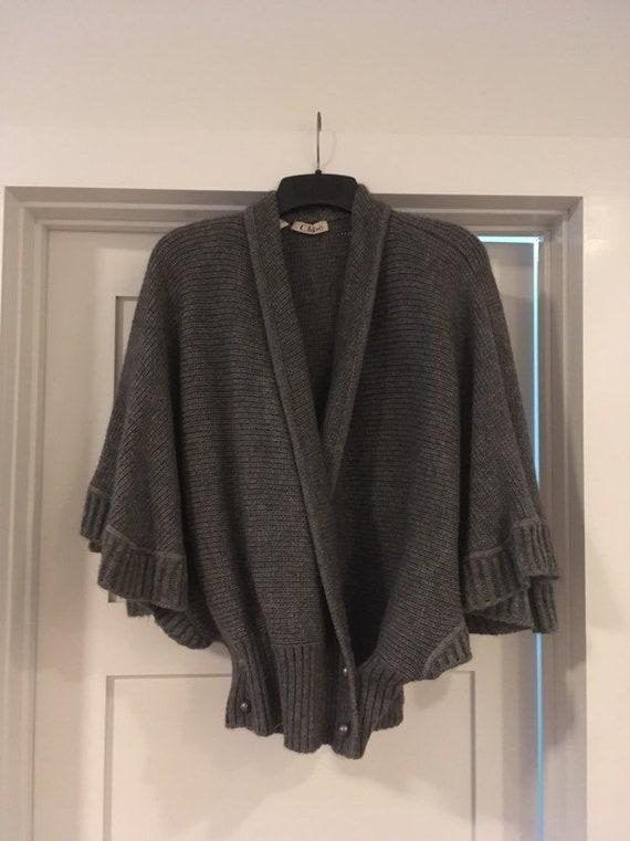 Vintage 1970s designer Chloe mohair sweater cape