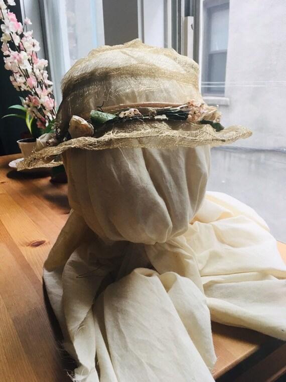 20s 30s horsehair deco antique hat