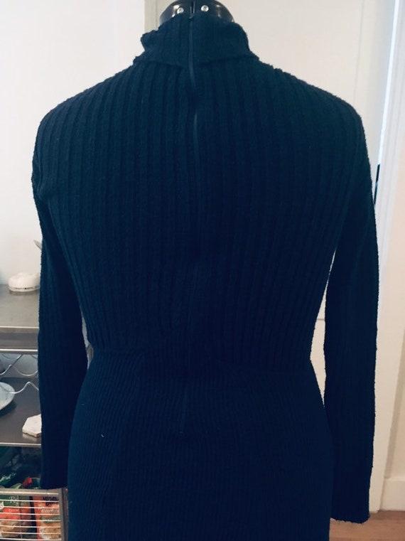 1970s knit maxi sweater dress - image 5