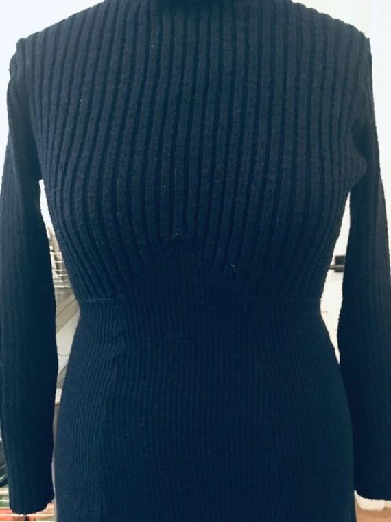 1970s knit maxi sweater dress - image 2