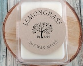 1 or 4 Packs Soy Wax Melts, Lemongrass Soy Candle Melts, Safe for any Brand of Wax Melter or Warmer