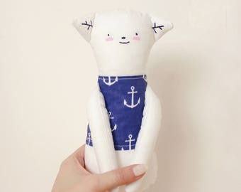 Handmade Toy Made To Order Cat Animal Plush Toy Personalized Gift