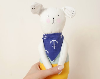 Handmade Toy Made To Order Mouse Animal Pants Plush Toy Personalized Gift