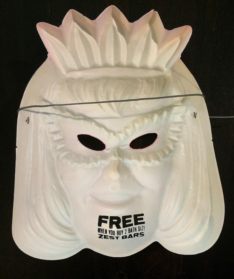 Blonde Princess Vintage Advertising Halloween D\u00e9cor Decoration Little Girl Costume 1960s Vintage Halloween Mask Masquerade