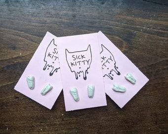 Ceramic Tooth Earrings