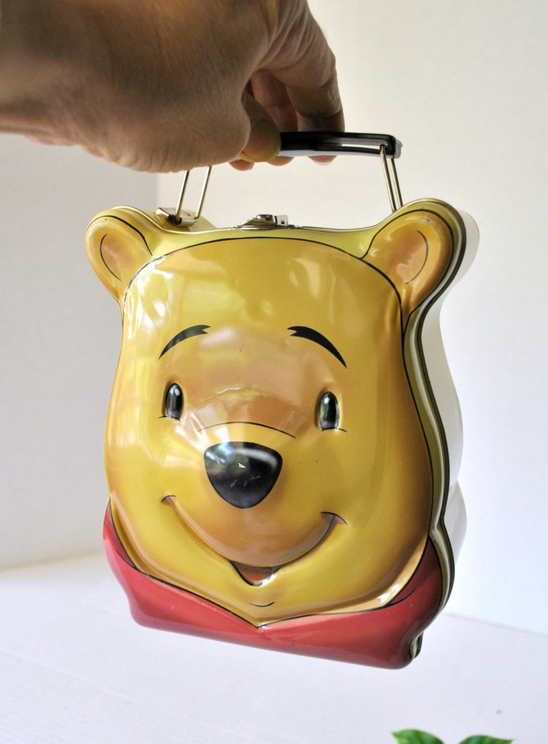 Vintage RARE Winnie The Pooh Head Face Lunch Tin ...