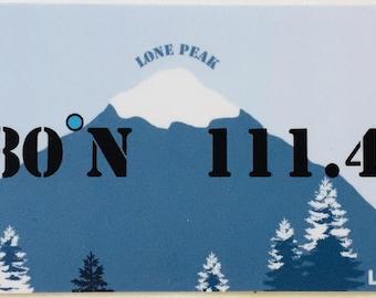 Locate/Love Big Sky, MT Sticker