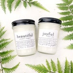 Any TWO 8 oz hand poured soy wax jar candles