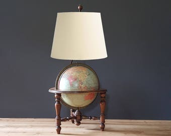 Glass World Globe Antique 40 S Illuminated Globe Etsy