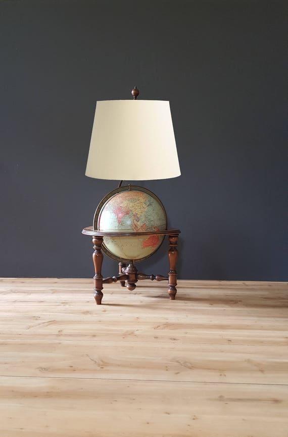 Antique Globe Lamp 1930s 10 Inch Replogle World Globe Table Etsy