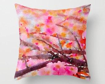 Cherry Blossom Throw Pillow - Geometric Pillow - Modern Decor - Throw Pillow - Urban Decor - by Beverly LeFevre