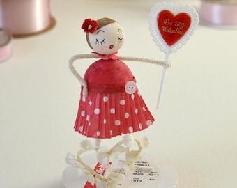 Valentine Baumwolle gesponnen Ornament / Retro-Stil / gesponnen Baumwolle Mädchen