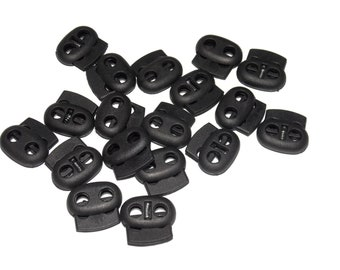 Fastener Slider Drawstring Toggle Stoppers perfk 6Pcs Oval Bean shaoe Cord Lock 4mm Hole Diameter