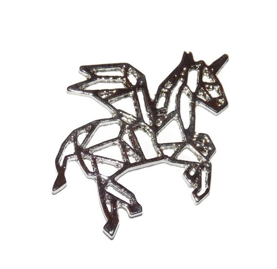 Unicorn Charms Pendants Silver Tone For Crafts And Jewelry