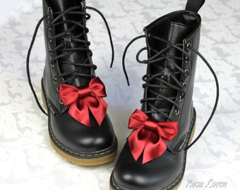 Red Shoe Bows, Red Bow Shoe Clips, Red Bow Clip Shoes