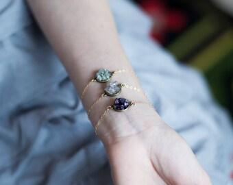Druzy bracelet, womens quartz bracelet, mineral jewelry, amethyst bracelet, aquamarine bracelet, bohemian bracelet, 14k gold filled bracelet