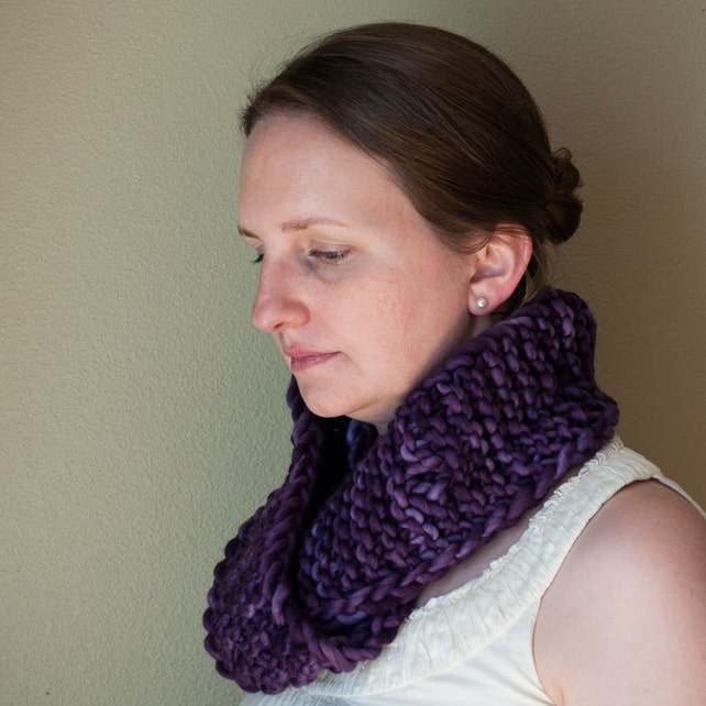 Infinity Scarf Pdf Pattern Oversized Scarf Knit Scarf Etsy