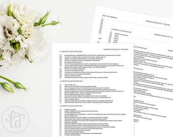 wedding checklist printable instant download