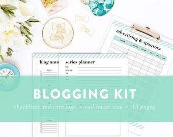 Blog Planning Kit - Blogger's Kit - Blog Planner Printables - INSTANT DOWNLOAD