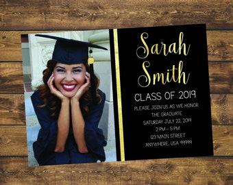 Graduation Invitation Etsy