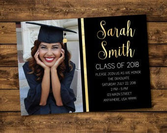 graduation invitations etsy