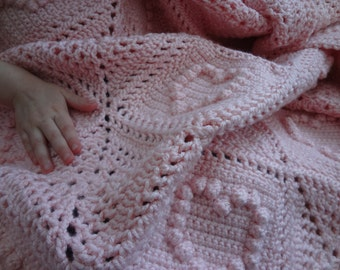 READY TO SHIP-Sweet Hearts Baby Afghan