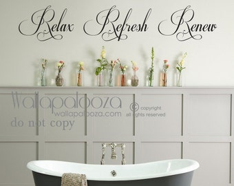 bathroom wall decals etsy rh etsy com wall art decals for bathroom wall decals for bathroom quotes