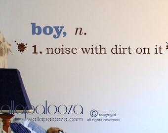 Boy Wall Decal Etsy