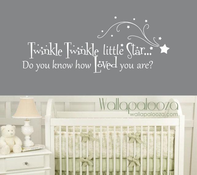 Twinkle Twinkle Little Star Wall Decal Nursery Wall Decal | Etsy