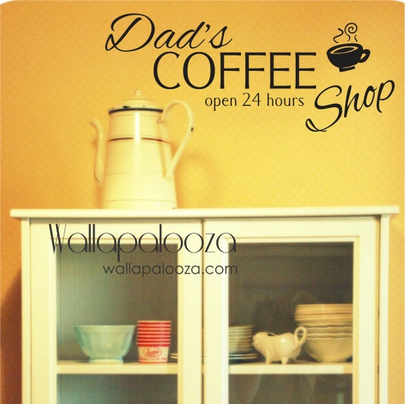 Kitchen Wall Decal Coffee wall decor Custom Coffee Wall