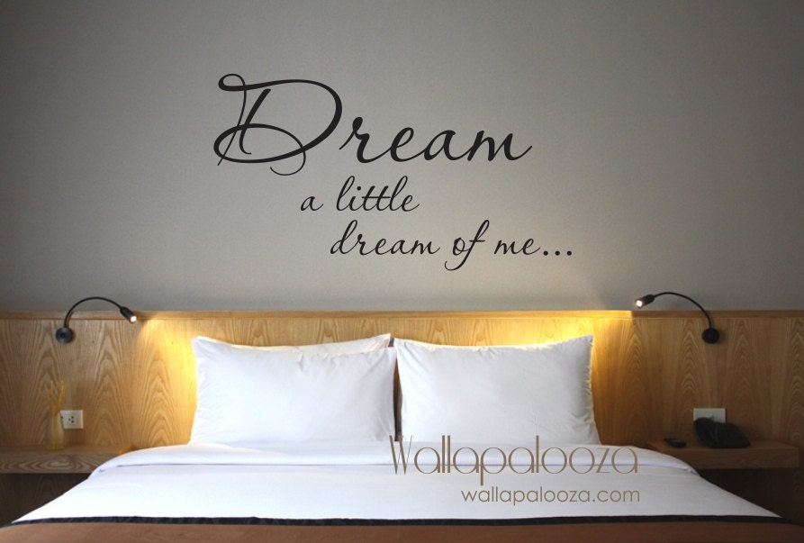 Dream Wall decal Dream a Little Dream of Me wall decal | Etsy