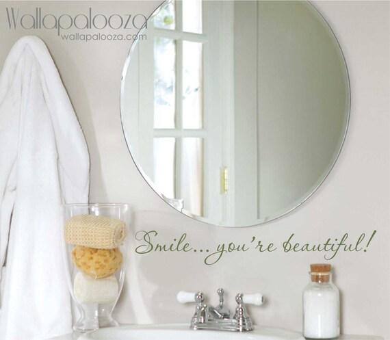 Wandtattoo Badezimmer, du bist schön Wandtattoo, Lächeln, Bad Aufkleber,  Ermutigung Aufkleber, Wandtattoo, Badezimmer-Wand-Dekor