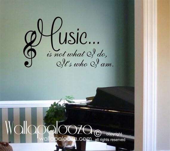 Music wall decal Music wall decor Music Love music | Etsy