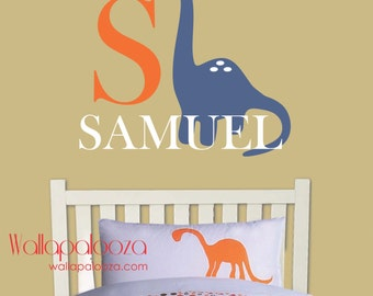 Dinosaur wall decal - Dino Wall Decal - Wall Decal - Children's Wall Decal - Personalized Name Decal - Dinosaur Wall Sticker - Nursery Decor