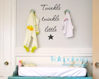 Twinkle Twinkle Little Star wall decal - Starfish decal - Nursery wall decal - Star decal - twinkle little star decor - twinkle wall art