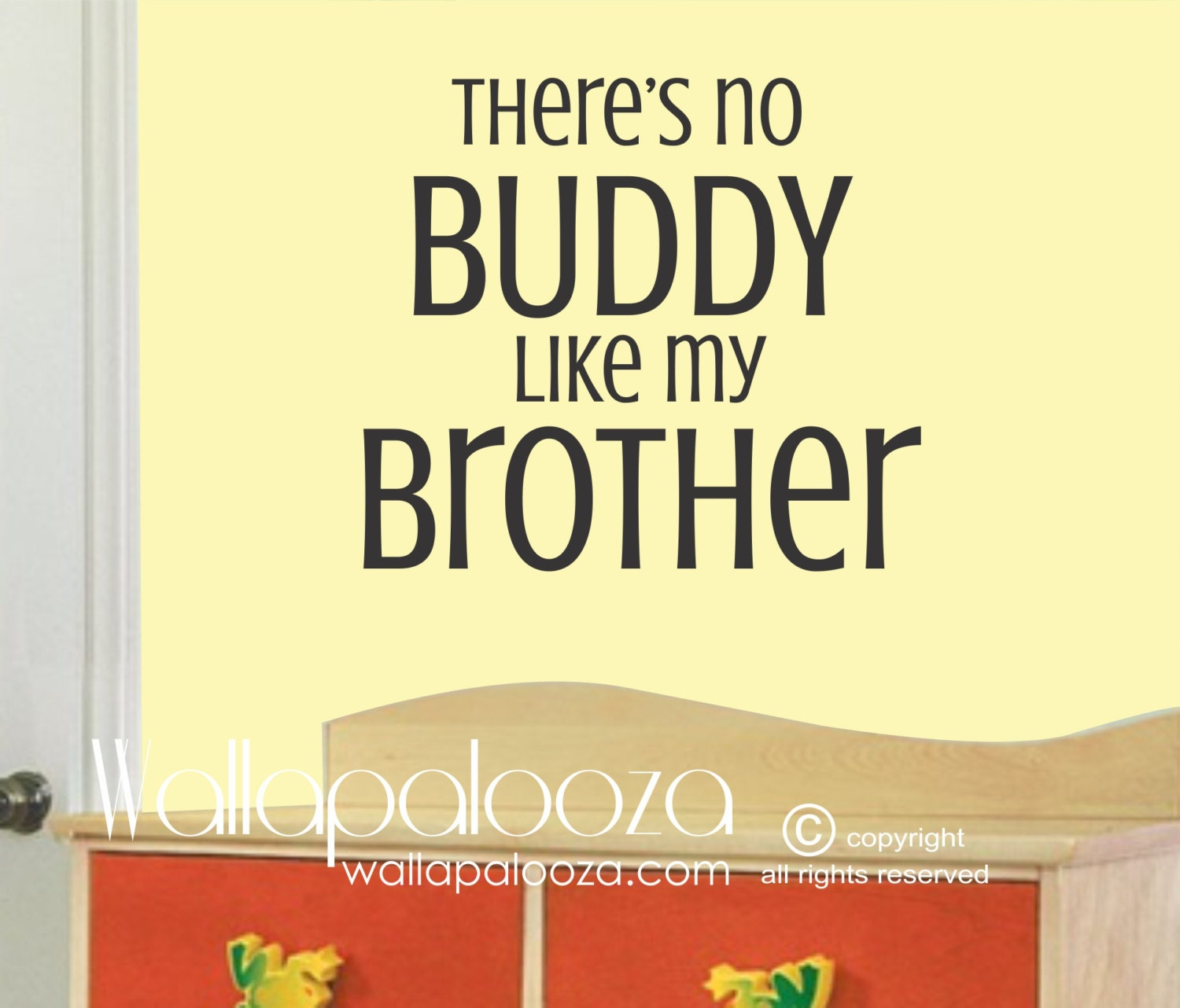 Nursery Wall Decal There\'s No BUDDY like my BROTHER   Etsy