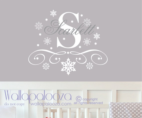 Superb Snowflake Wall Decal Snowflake Name Wall Decal Snowflake