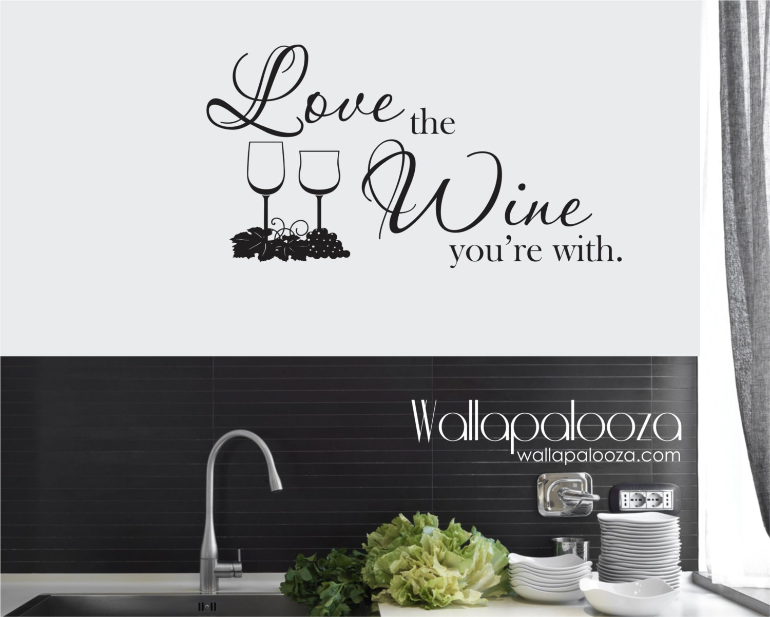 Wine Wall Decal Love The Wine Youre With Wall Decal Etsy