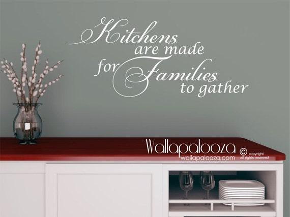 Küche-Wand-Dekor - sind Küchen für Familien-Wandtattoo - Küche Wandtattoo -  Küche-Wand-Kunst - Wand-Dekor - Familie Wandtattoo gemacht