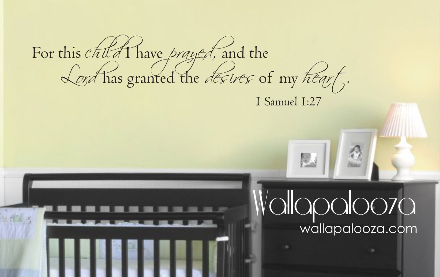 For this Child We Prayed Nursery Wall Decal 1 Samuel 1:27 | Etsy