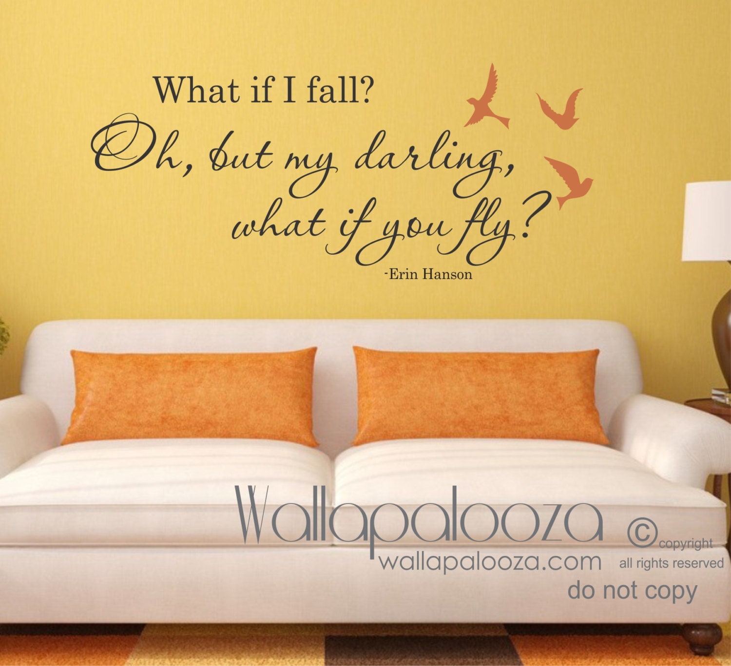 What if I fall wall decal What if I fall wall art What if