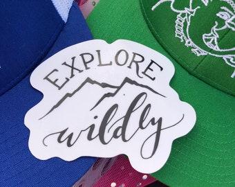 Explore Wildly Sticker | Explore Sticker | Adventure Sticker