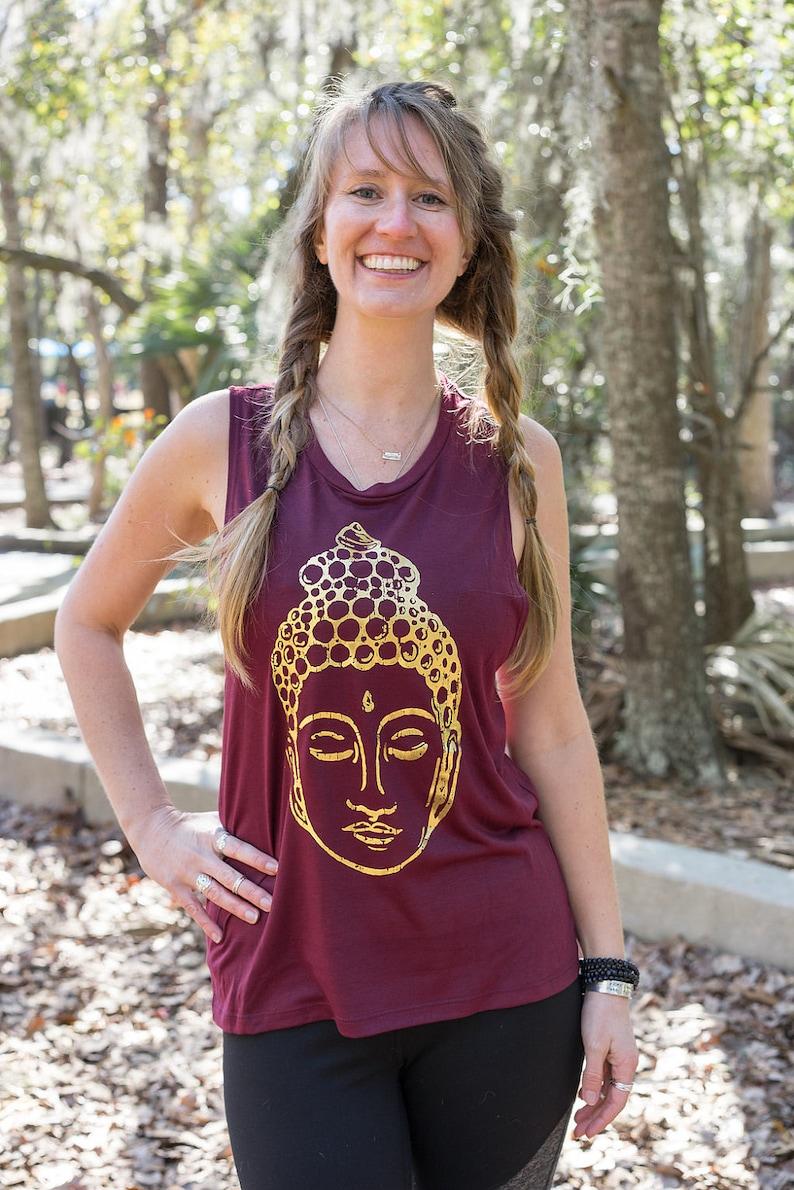 0dc94aca08 Buddha Tank Top Womens Buddha Workout Tank Yoga Wear | Etsy